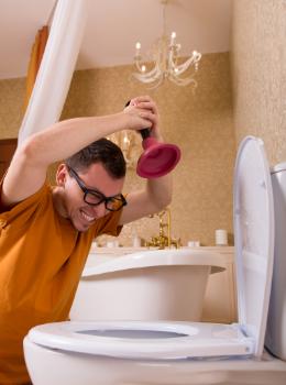 WC verstopft Installateur Wien
